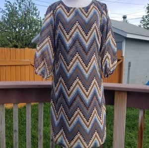 Wrangler small chevron long sleeve dress